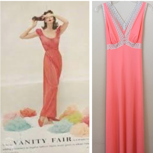 Vanity Fair Intimates & Sleepwear | Vintage 60s Long Night Gown ...